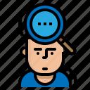attitude, business, human, resources, surveys icon
