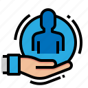 belief, business, human, resources icon