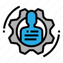 business, human, resources, skills, training icon