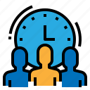 business, hour, human, resources, working icon