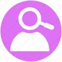 human, human resources, resources, search, targeting icon