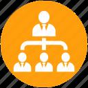 chart, hierarchy, human, management, optimization, organization, resources icon