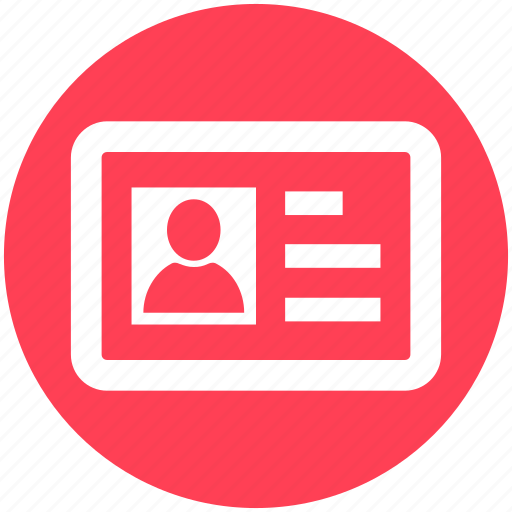 avatar, business, card, human, id, person, resources icon