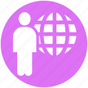businessman, communication, human, international, internet, resources, world icon