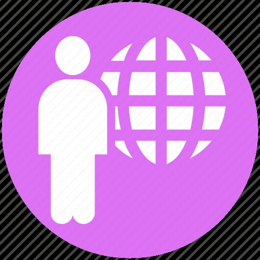 businessman, communication, human, international, internet, resources, world icon