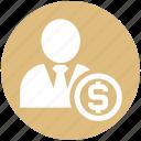 customer, dollar, finance, human, money, person, user