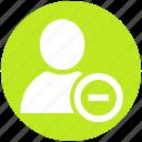 avatar, employee, human, minus, people, remove, user