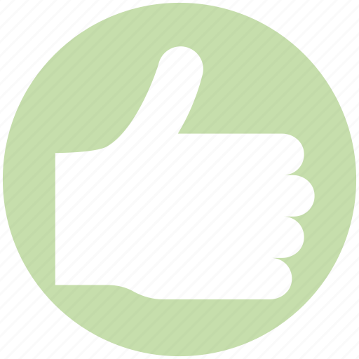 hand, like, media, right, social, thumb, thumbs up vote icon