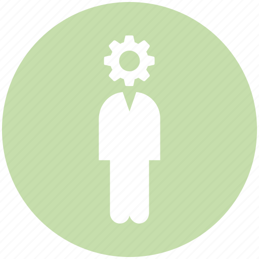 business, gear, human, management, people, process, resources icon