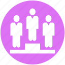 business, man, people, peoples, person, podium, winner icon