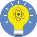 bright, creativity, idea, innovation, light bulb icon
