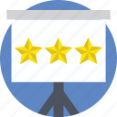 presentation, ranking, rating, review, stars icon
