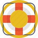 insurance, life belt, life ring, lifebuoy, ring buoy icon