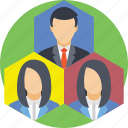business team, hierarchy, team, team lead, team leader icon