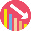 analytics, loss, regress, statistics, stats icon