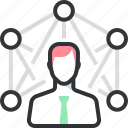 business, company, employee, man, outsourcing, web icon