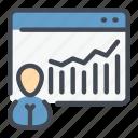 man, online, person, report, stats, user, website