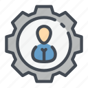 gear, human, options, people, person, resources, settings icon