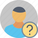 questions, employee, help, information, man, person, user