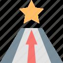 arrow, career, path, promotion, star, success, way icon