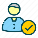 accepted, candidate, human, job, recruitment, resources, user icon