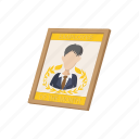 award, best, business, cartoon, certificate, employee, success icon