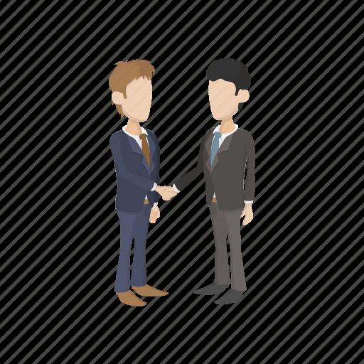 agreement, business, cartoon, corporate, hand, handshake, people icon