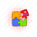 business, comics, idea, person, puzzle, solution, success icon
