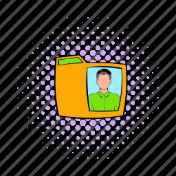 comics, document, file, folder, office, paper, photo icon