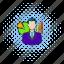 business, businessman, chart, comics, finance, graph, growth icon