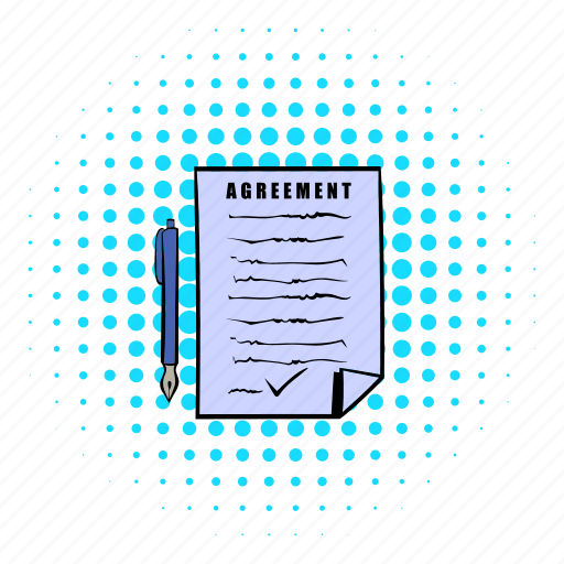 agreement, business, comics, contract, document, lawyer, paper icon