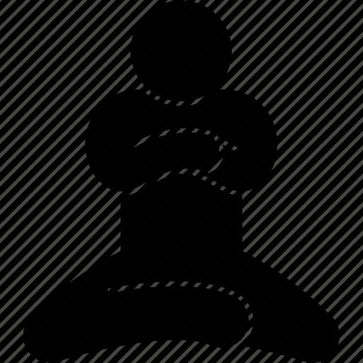 Floor, ground, sit, sitting icon