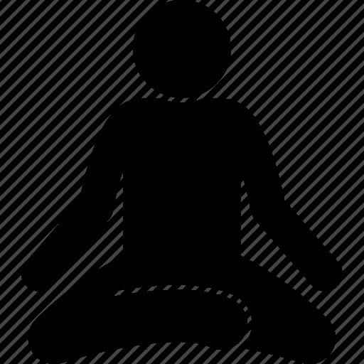 meditate, meditation, relax icon