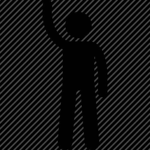 hand, human, man, raising icon