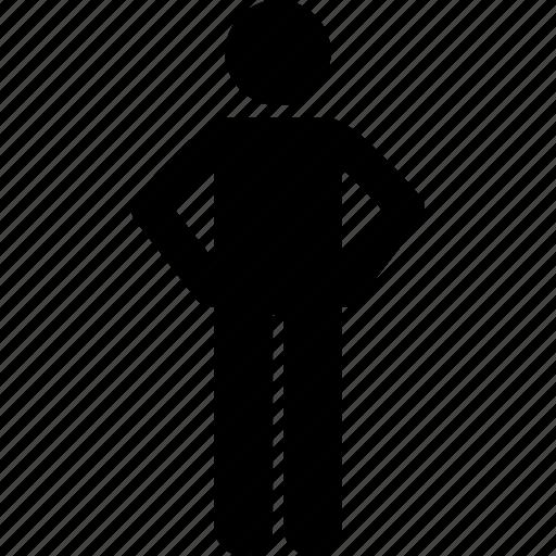 hand, man, waist icon