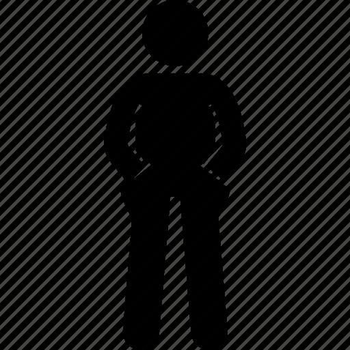 cool, hand, inside, man, pocket icon