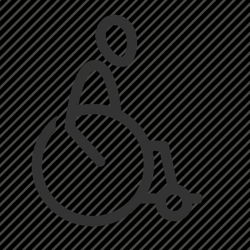 cripple, disable, disabled, human, man, twist, wheelchairs icon