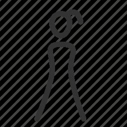 female, girl, human, toilet, user, wife, woman icon