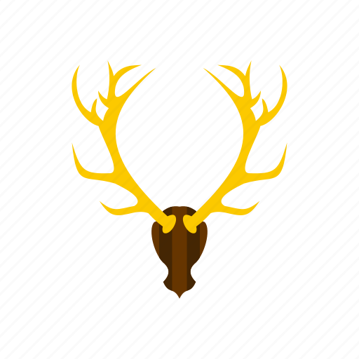 animal, antler, deer, horn, nature, stag, wild icon