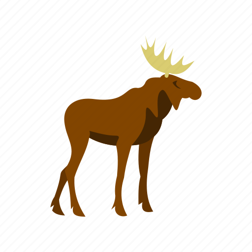 animal, antler, horn, moose, nature, stag, wild icon
