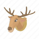 animal, antler, cartoon, deer, head, horn, wild icon