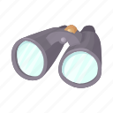 binocular, cartoon, instrument, optical, search, vision, zoom icon