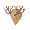 antler, cartoon, deer, hunting, trophy, wild, wildlife icon