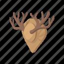 antler, cartoon, deer, hunting, trophy, wild, wildlife