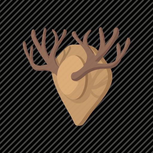 antler, cartoon, deer, hunting, trophy, wild, wildlife icon