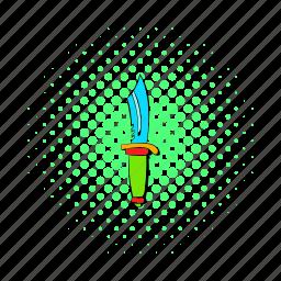 blade, comics, cut, handle, knife, sharp, steel icon
