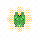 cloth, comics, equipment, hunter, sport, uniform, vest icon