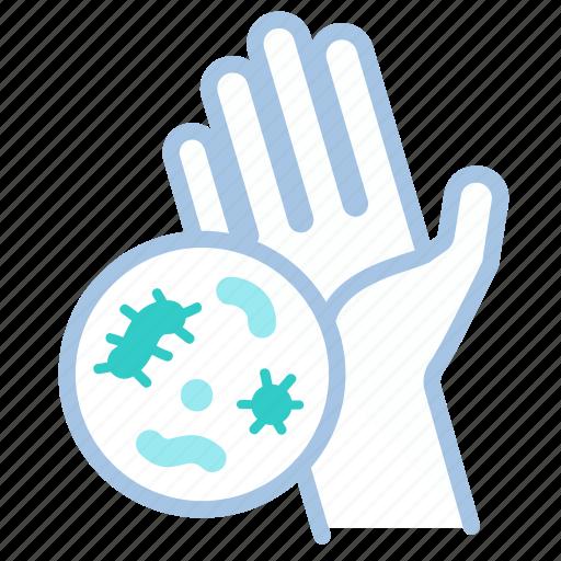 bacteria, dirty, hand, hygiene, virus, washing, zoom icon