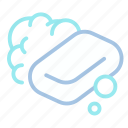 bubble, clean, hygiene, soap, washing icon