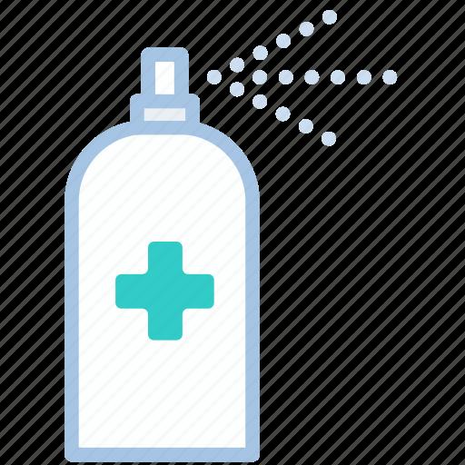 alcohol, hygiene, sanitation, spray, washing icon